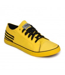 Vostro Yellow Black Casual Shoes for Men - VCS0153